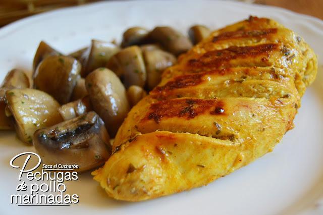 pechugas de pollo marinadas saca el cucharon