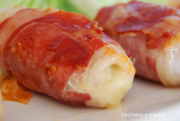 Rulo de pollo, jamón y queso