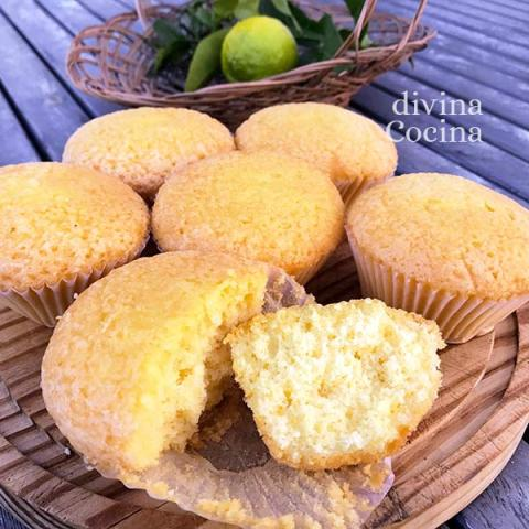 magdalenas sin azucar - divina cocina