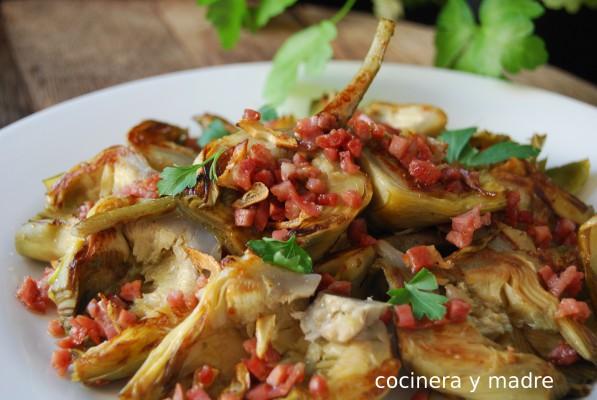 alcachofas con jamón - cocinera y madre