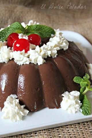 flan de chocolate 2 ingr - el ducle paladar