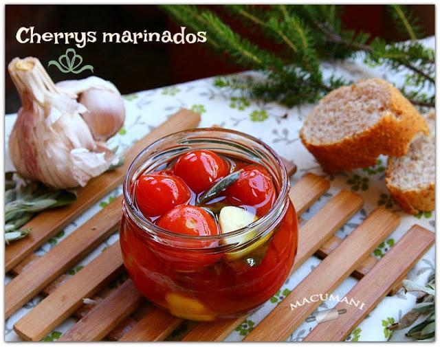 CHERRYS MARINADOS ( en 2 minutos )