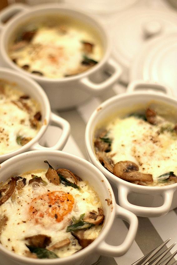 Huevos al horno con setas (Gordon Ramsay)