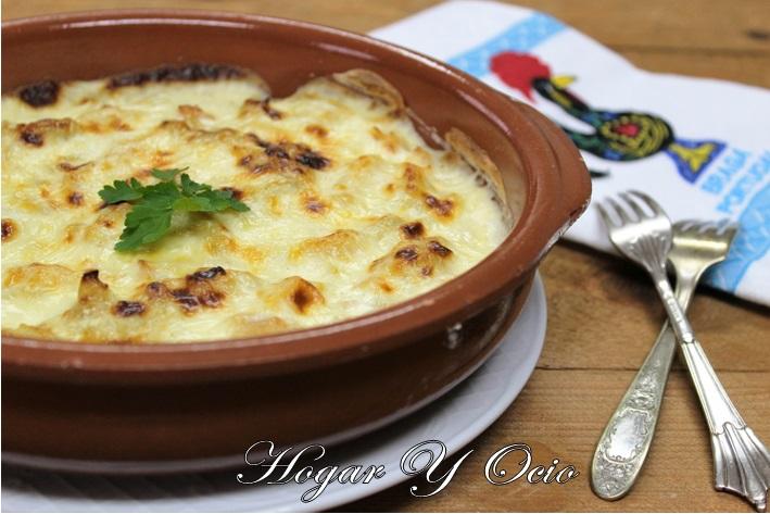 Bacalao con nata al estilo portugués (Bacalhau as natas)