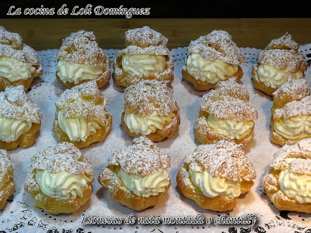 96-934 Lionesas de nata montada o chantilly (Pastelillos de pasta Choux)