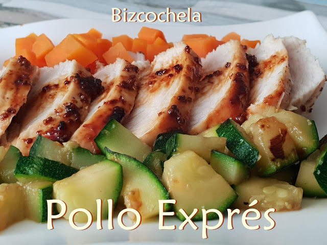 Pollo express a la miel y mostaza