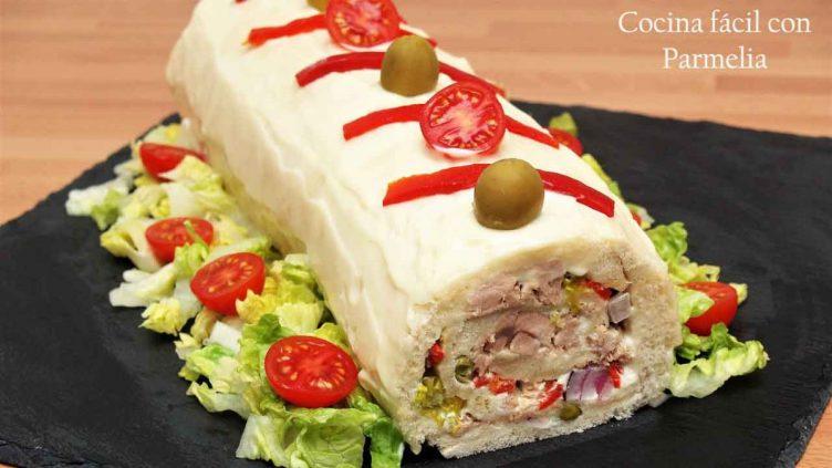 Enrrollado de sándwich de atún