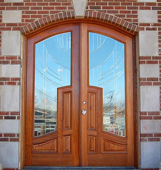 Interior design for wooden glass double door ipc384