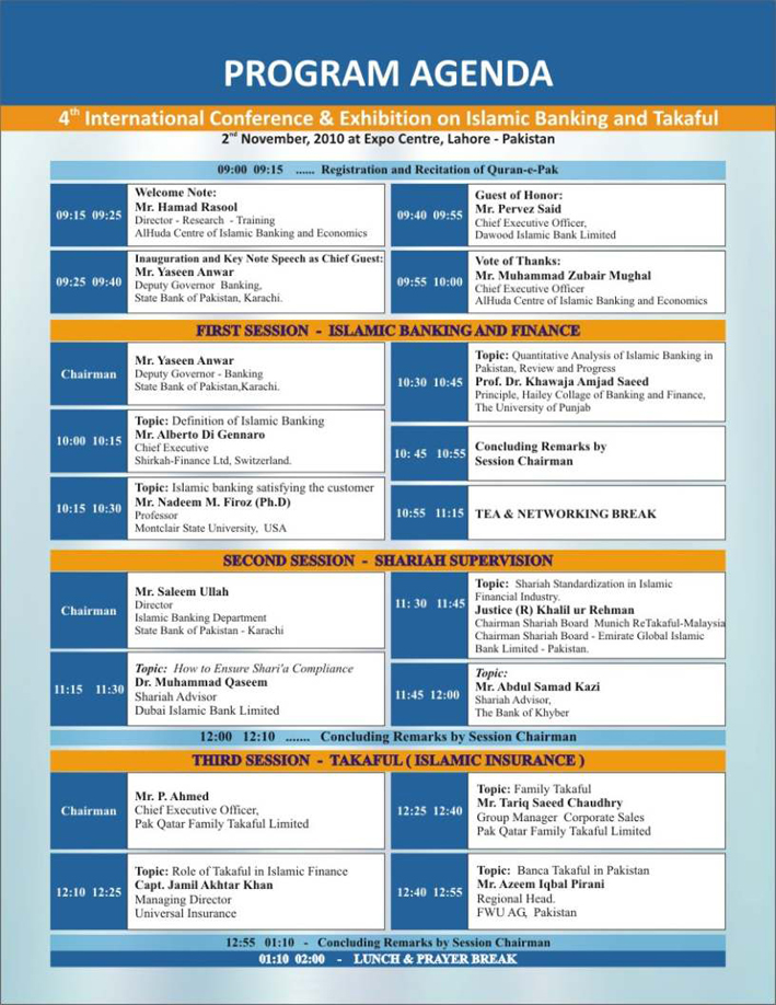 Pakistan Conference  - event agenda