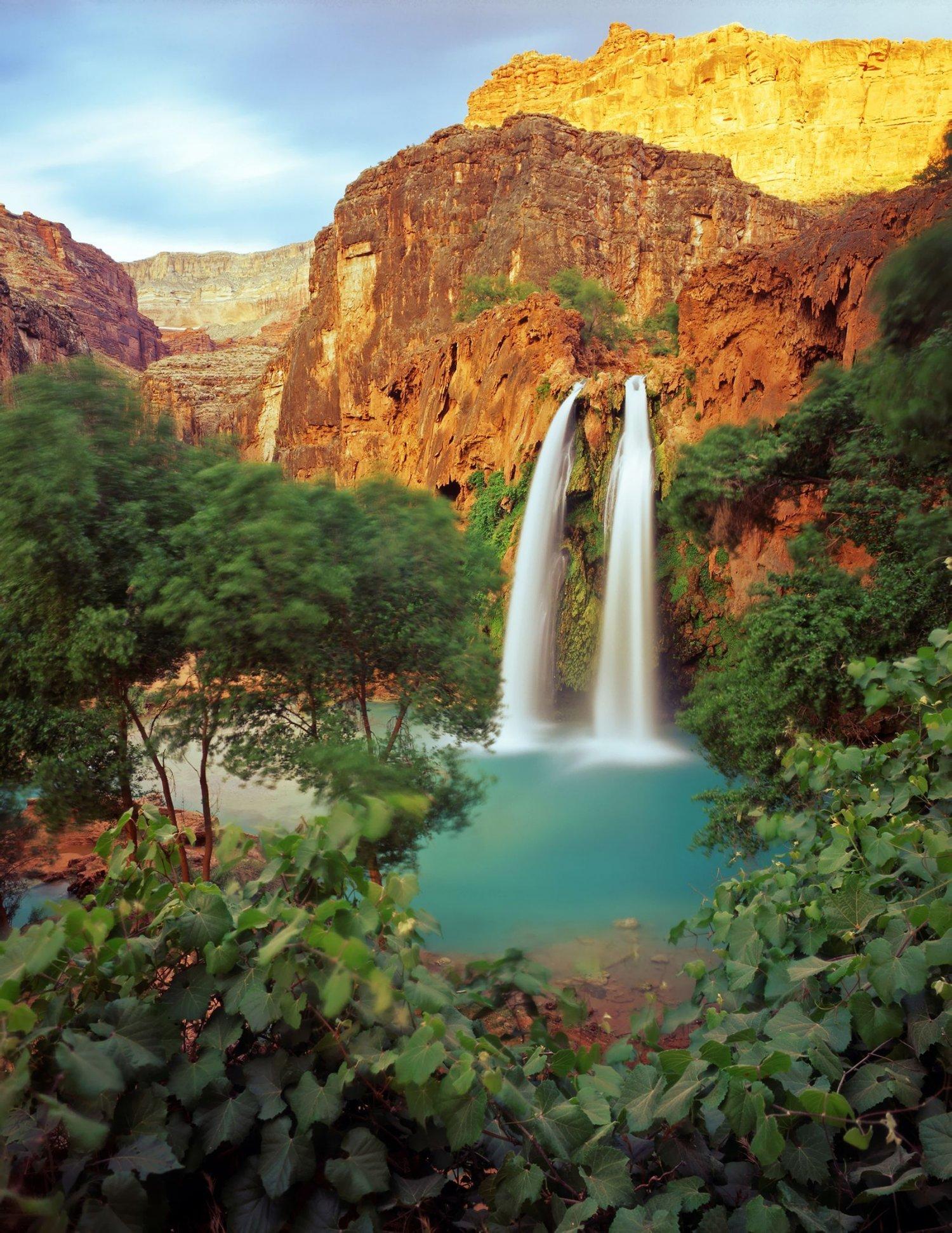 Havasu Falls Wallpaper Cach 233 Es Dans Le Grand Canyon Les Chutes D Havasu Sont Les