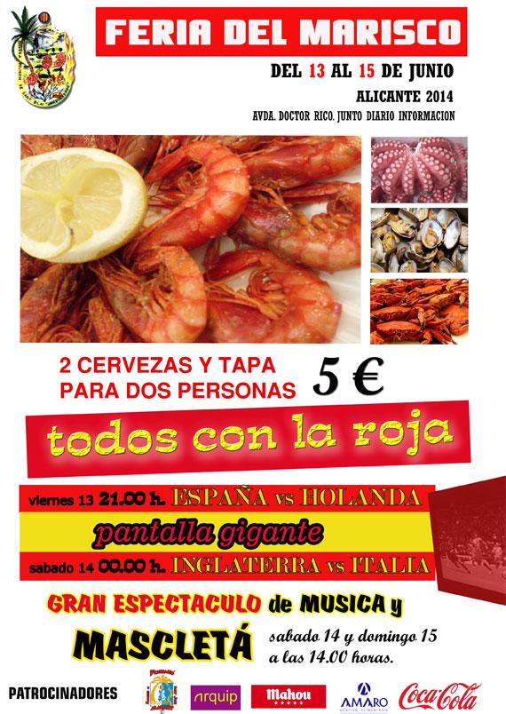 feria-marisco 13 al 15 junio Alicante