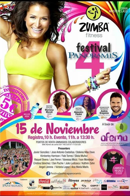 zumba en panoramis 15 noviembre 2015 Alicante