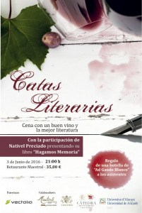 Catas literarias con Nativel Preciado @ Restaurante Maestral | Alicante | Comunidad Valenciana | España