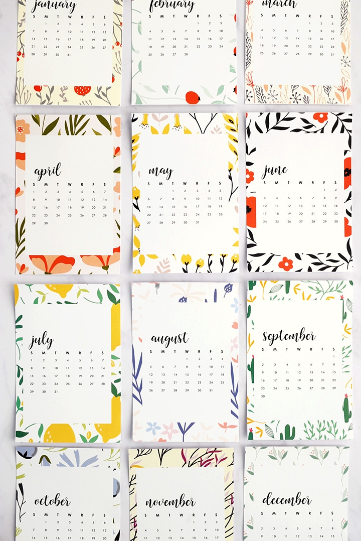 Alice and LoisFree Printable 2018 Monthly Calendar - Alice and Lois