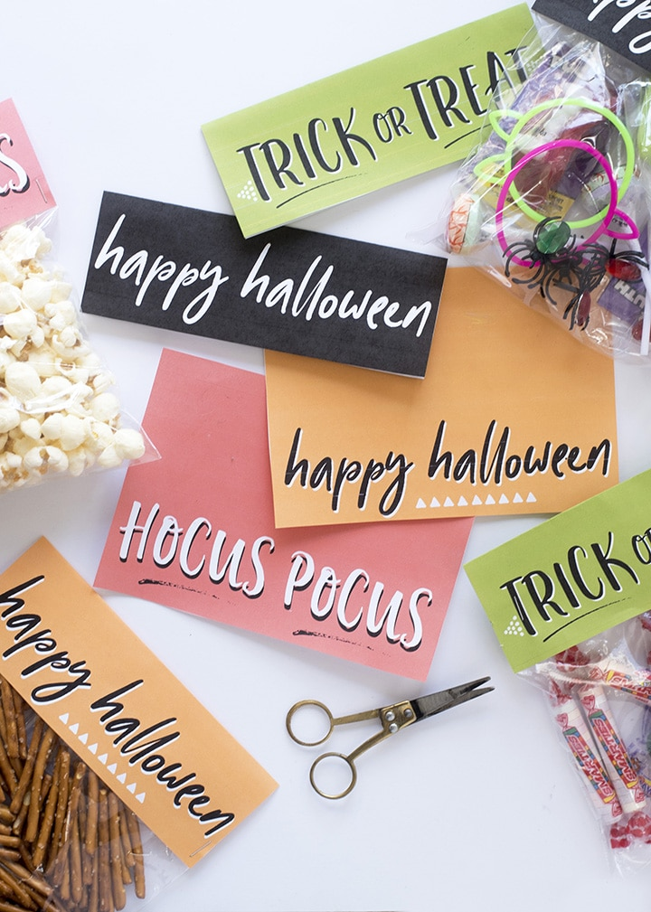Alice and LoisFree Printable Halloween Treat Bag Toppers - Alice and