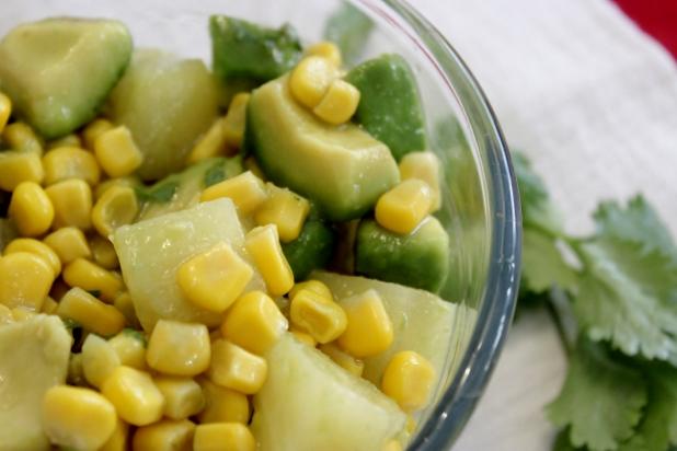 Salade de Maïs, Ananas et Avocat