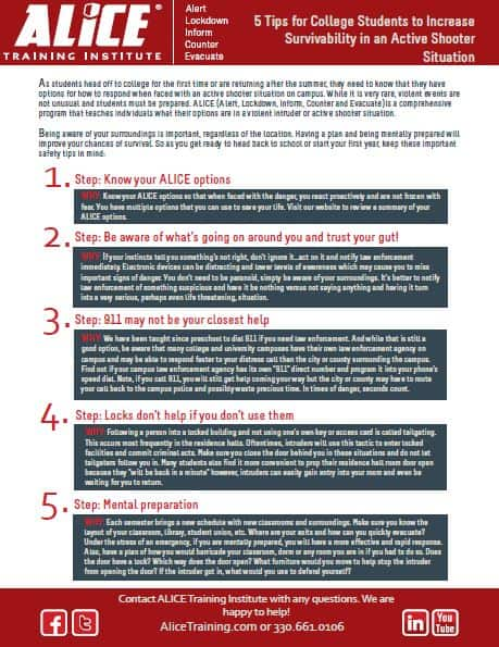 5 Tips for College Students ALICE Training Institute