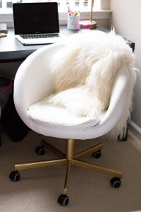 Gold Office Chair | DIY IKEA Hack | Home | Alice Tenise