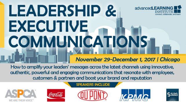 Leadership  Executive Communications Chicago November 29 - December 1