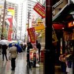 Satu Hari di Yokohama Disambut Hujan dan Topan