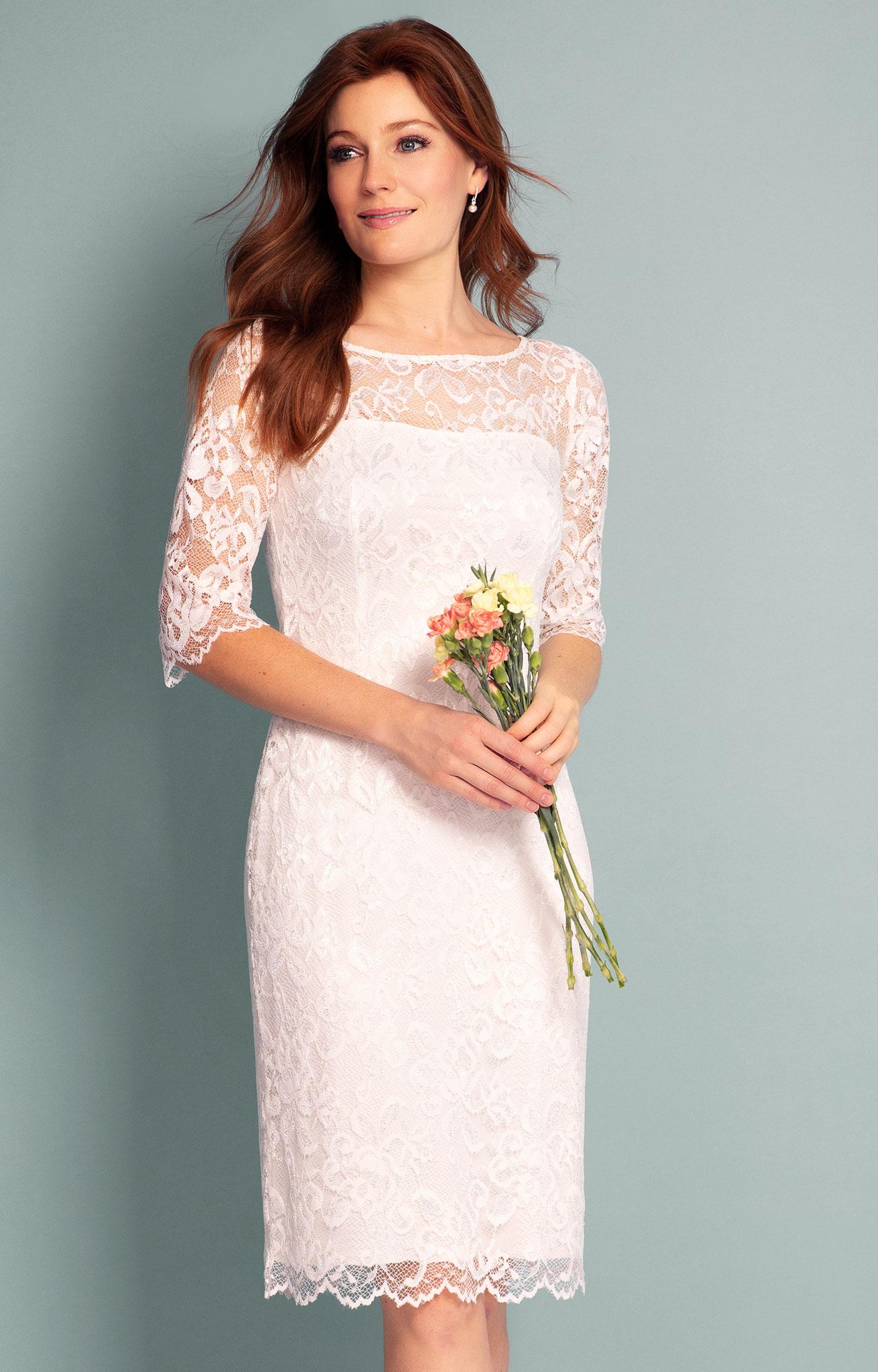 Lila Wedding Dress Short Ivory ivory wedding dress Lila Wedding Dress Short Ivory by Alie Street