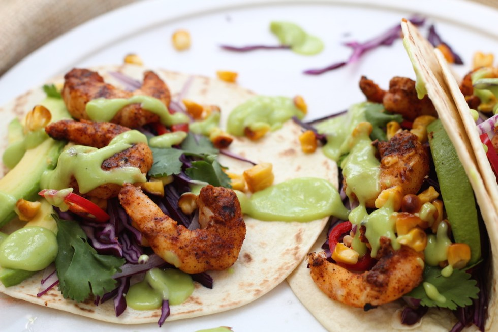 ancho prawn tacos easy weeknight meal