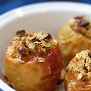 baked apples with crumble filling