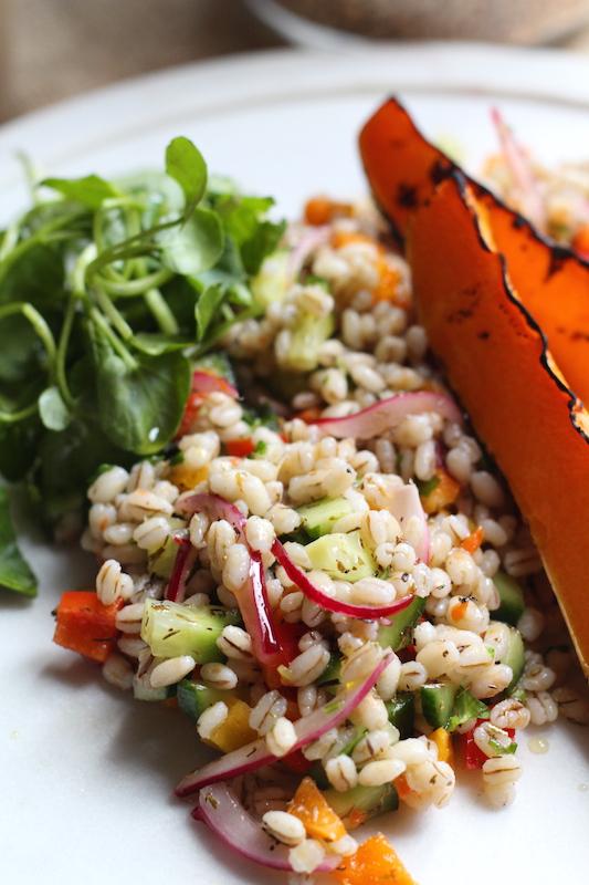 easy pearl barley salad