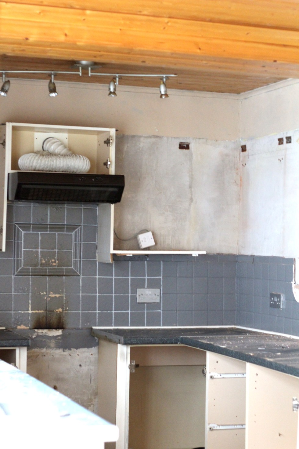 top of kitchen removed