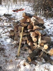 pile of split oak