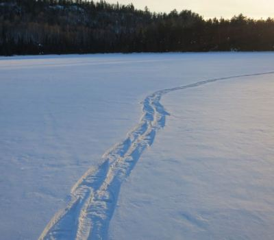 late pm snowshoe trail