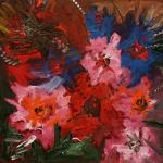 """Из цикла """"Цветы""""-1  100х100, холст, масло, 2010"""