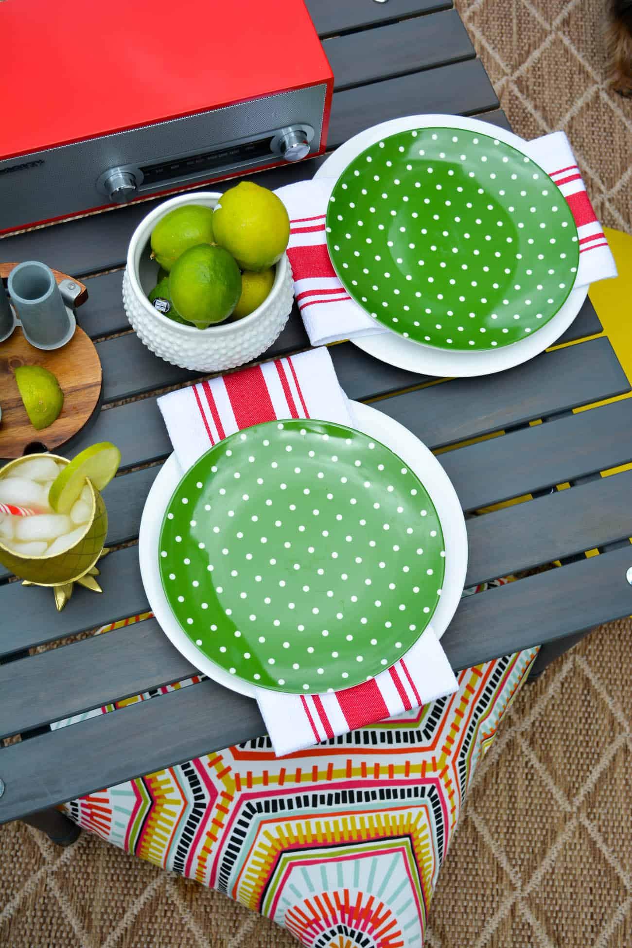 Upgrade your life with Fab, Fab.com, Kate Spade Polka Dot plates. home decor, outdoor entertaining