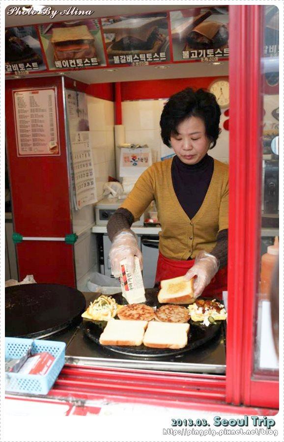 [ 2013.03 ] 韓國首爾自由行 Day 4 :明洞站 - 超美味的ISAAC吐司還有親切的阿珠嬤 - Alina 愛琳娜 嗑美食瘋旅遊