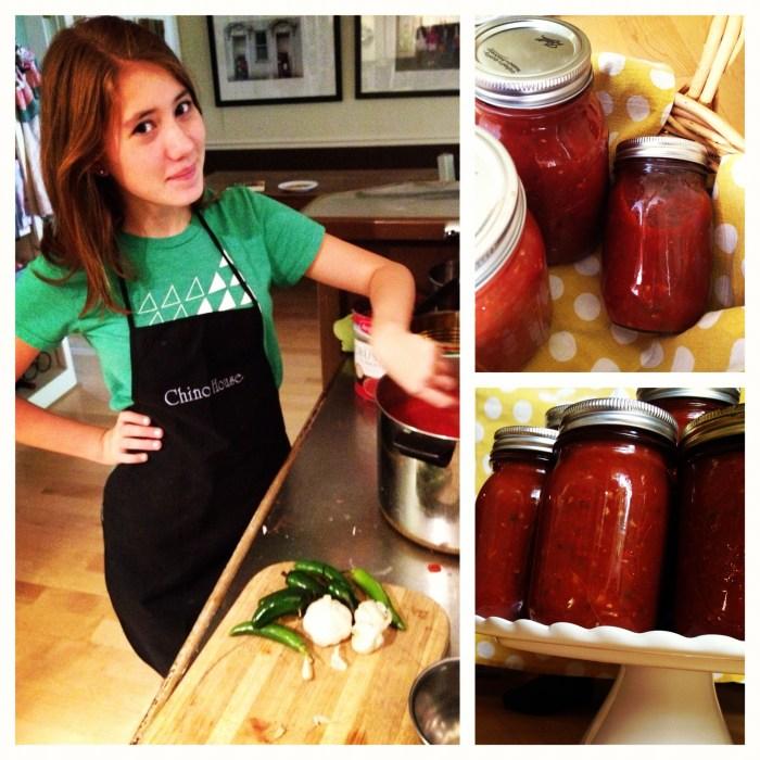 salsa, making salsa, homemade salsa, salsa jars