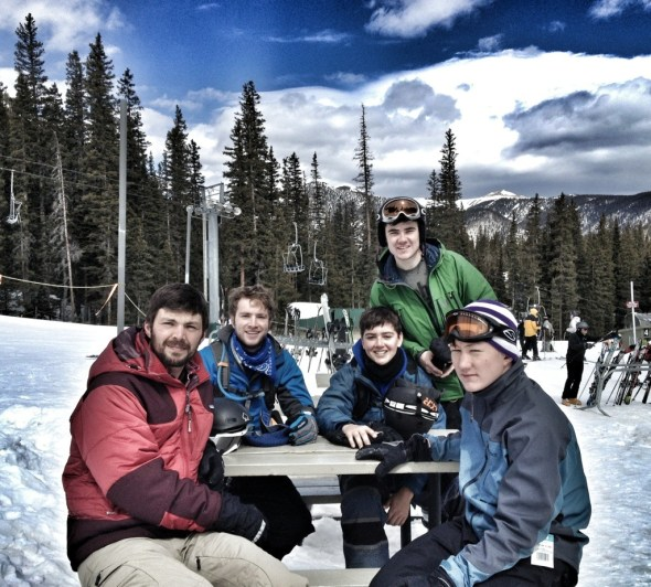 taos mountain crepes and coffee, taos ski valley, snow camp in taos, ski camp, youth trips, spring break, family vacations