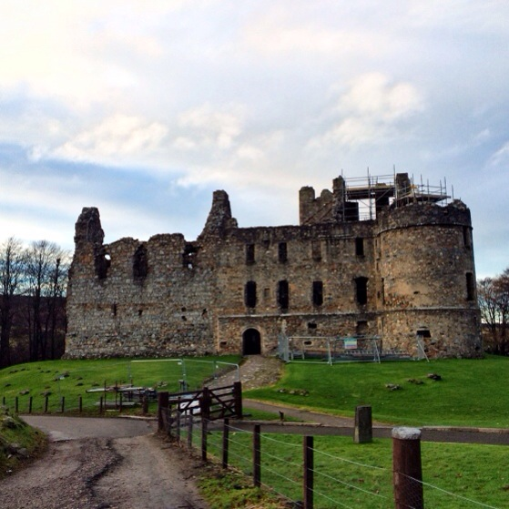 Balvenie Castle, Glenfiddich, Snapshots of Scotland in Winter
