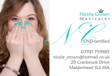 Newly qualified CND manicurist required headshot and business card design for her new business Nicola Crown Manicures in Maidenhead.