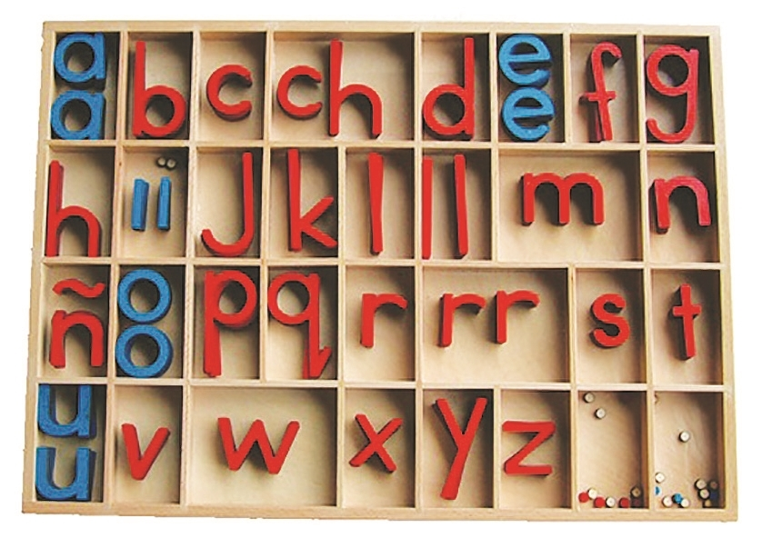 Spanish Montessori Materials Spanish Movable Alphabet - alphabet in spanish