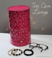 Tin Can Lamp - A Little Craft In Your Day
