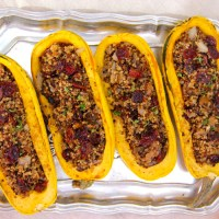 Quinoa and Cranberry Stuffed Delicata Squash