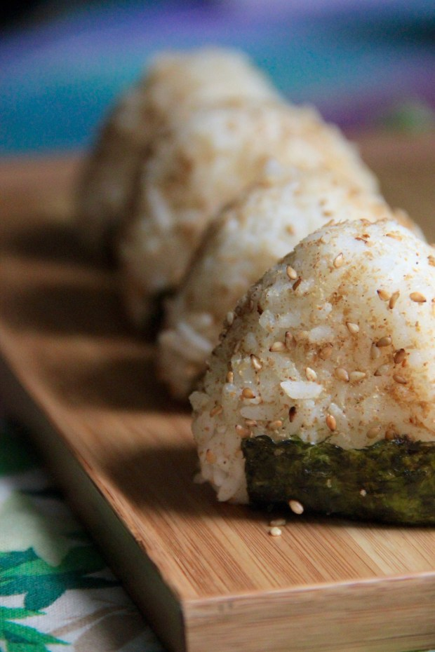 Shredded Carrot Ginger Onigiri