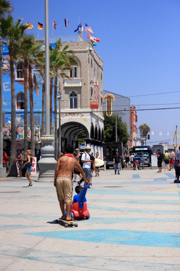 Walking in Venice Beach