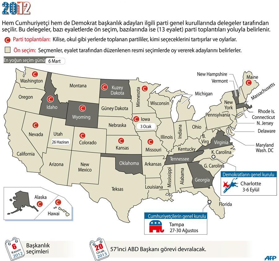 İnfografik ABD Başkanlık Seçimi haritası Al Jazeera Turk