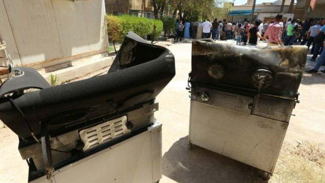 حريق مستشفى اليرموك