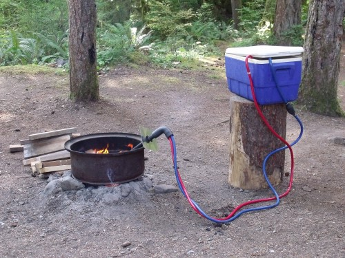 Build Your Own Camping Hot Water Heater