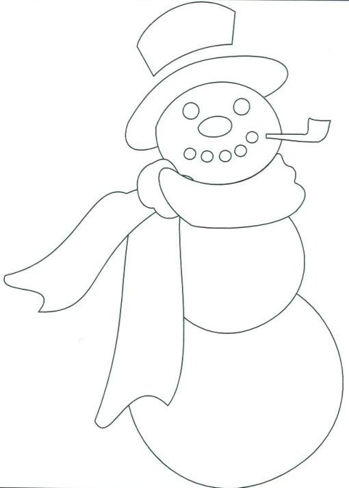 Snowman Block - snowman template