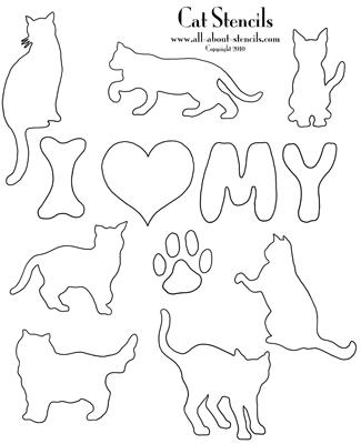 Cat Stencils, Dog Stencil Patterns, Animal Stencils All Free