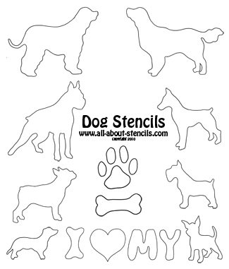 Dog Stencils, Cat Stencils, Cool Stencils and Many Free Printable