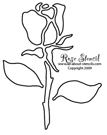 Rose Stencil Designs Free for You to Print and Use